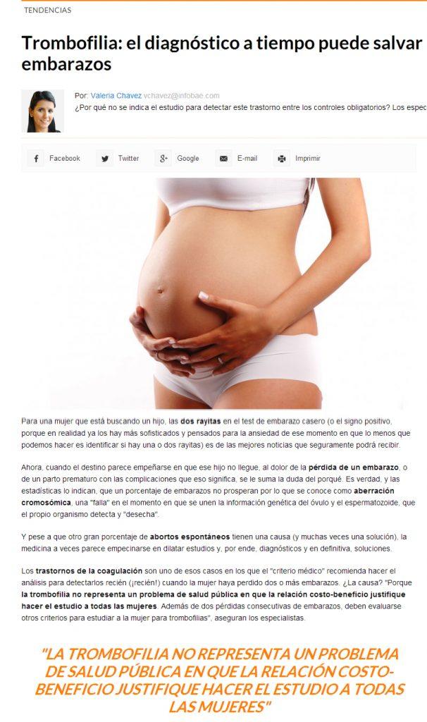 tiempo de protrombina bajo en el embarazo