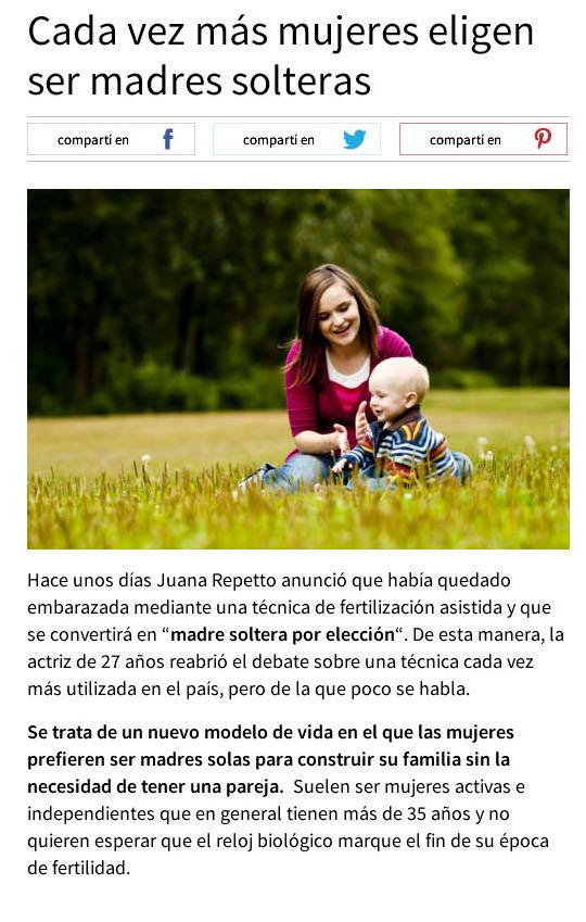 Técnicas para ser madre soltera